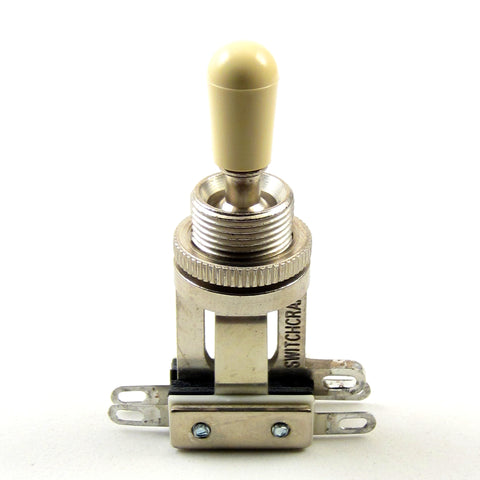 Switchcraft 3-Way Short Toggle Switch w/ Cream Switchcraft Tip