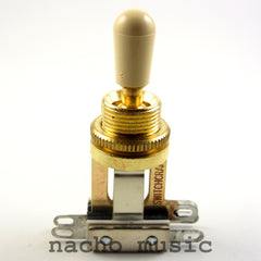 Switchcraft Gold Short 3-Way Toggle Switch