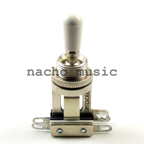 Switchcraft 3-Way Short Toggle Switch w/ White Switchcraft Tip