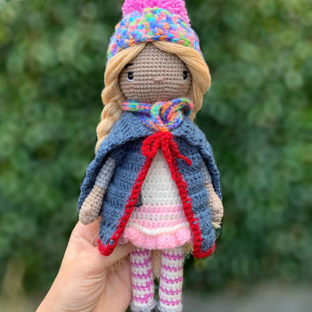 Luiza - Crochet doll, Amigurumi toy doll, Baby shower gift