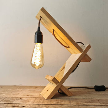 Reclaimed Timber Desk Lamp - UK Handmade