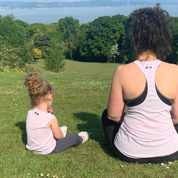 'Mama and me' sustainable children's active wear vest
