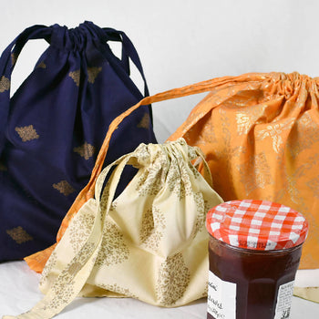 Pack of 3 Small Drawstring Veggie Bags