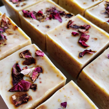 Rose's and Wine-Down Natural Face Soap Made with real antioxidant rich wine!