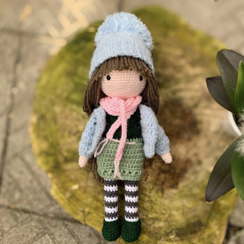 Katriona - Crochet doll, Amigurumi doll toy, Doll Toy