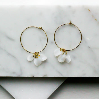 14K Petals Hoops - Sustainable Earrings from Plastic