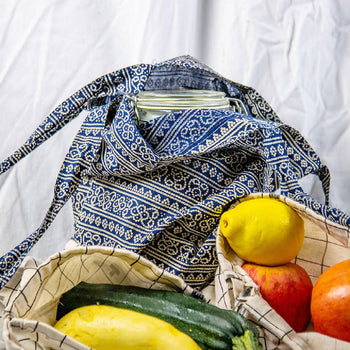 Combo Pack - 1 Classic Tote & 2 Small Drawstring Veggie Bags