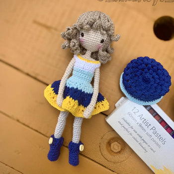 Andrea - Crochet doll, Amigurumi crochet toy, Baby shower gift