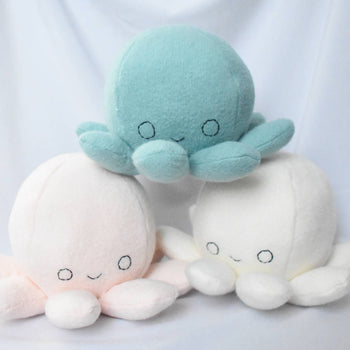 Octopus Plushie- Handmade Organic Cotton Plush Toy