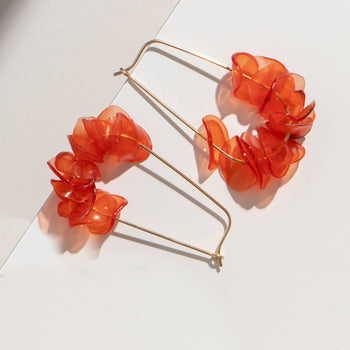 Coral Teardrops - Sustainable Earrings from Plastic