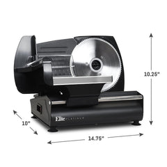 MaxiMatic Emt-503b Electric Deli Meat Slicer Cutter, Ham Cheese Vegetable Bread