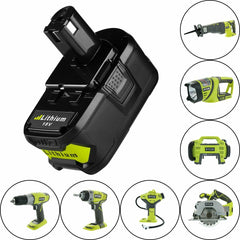 Replacement Li-ion Battery and Charger Ryobi Tools 18V ONE+ 5.0Ah Quick Charger