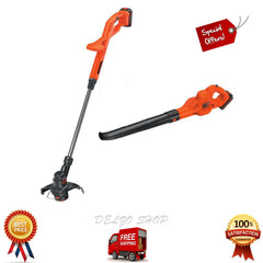 Cordless String Trimmer Blower Set Electric Weed EaterGrass w/ Charger Batteries