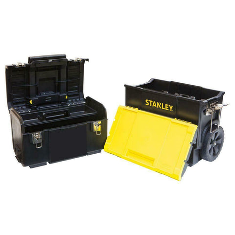 2-PACK Stanley 3-in-1 Rolling Tool Box Organizer Portable Workshop Cart Storage