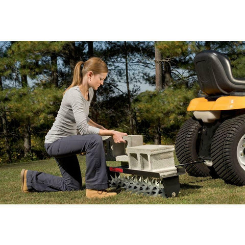 TOW BEHIND LAWN AERATOR 40 Inch Lawn Yard Spike Tractor Soil Fertilize Tool NEW