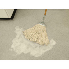 Heavy Duty Wet String Mop Cotton Commercial Floor Tile Cleaning Tool Wood Handle