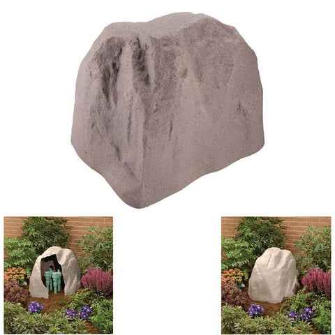 Outdoor Landscape Rock Boulder Fake Stone Sprinkler Valve Box Cover Garden Decor