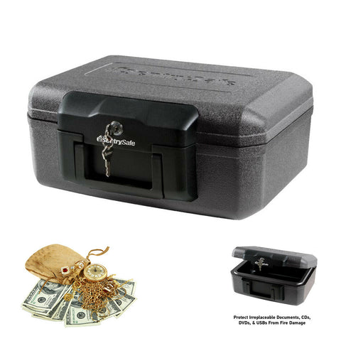 Sentry Fire Chest Fireproof Lock Box Hidden Money Cash Document Media Gun Safe