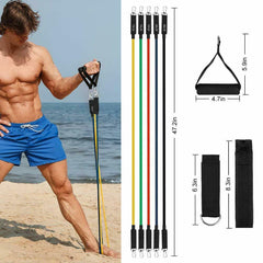 Resistance Workout Bands Exercise Fitness Set Yoga Pilates Training Abs Tube Gym