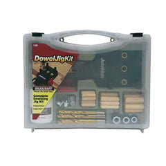 Complete Doweling Jig Kit Drills Woodworking Furniture Craft Guide Precision NEW