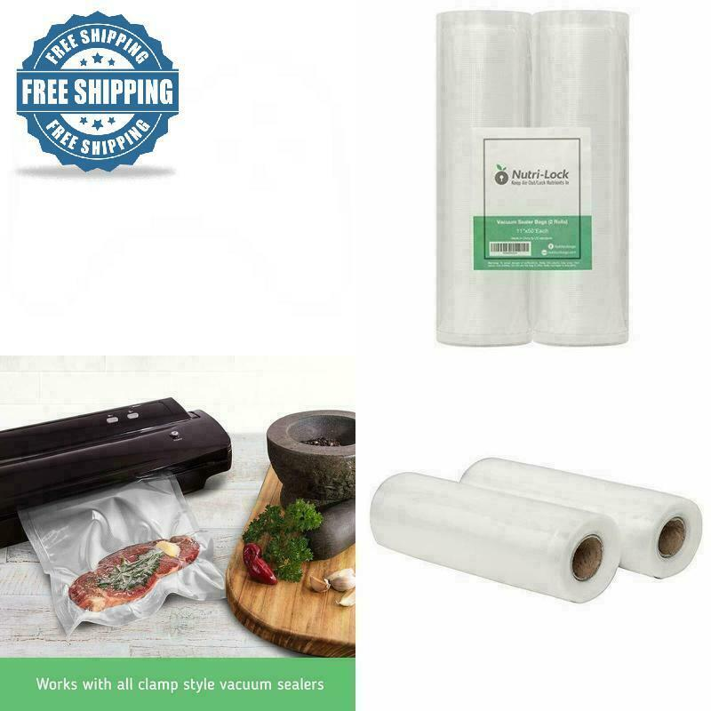 NEW Vacuum Sealer Bags Rolls 11x50 Food Saver Seal Meal Storage Universal 4 Mil