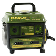 Small Portable Generator Oil/Gas Mix Quiet Home RV Camper Camping Power Source