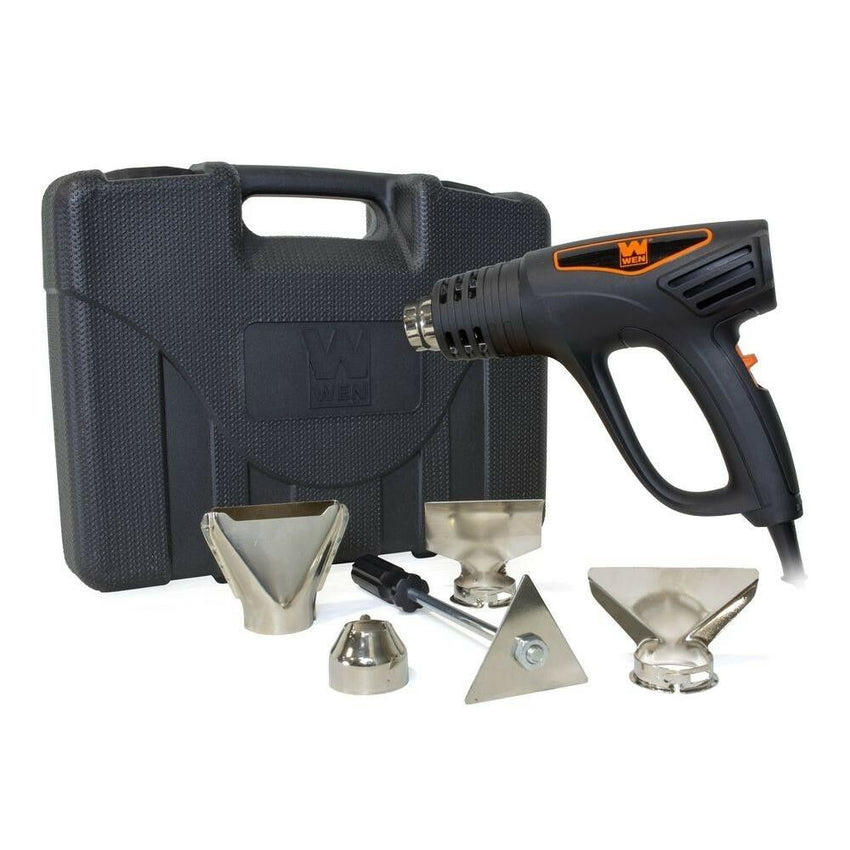 WEN Heat Gun Kit Dual Temperature 1500W Quiet Compact Hot Electric Power Tool