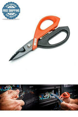 Electrician Data Scissor Titanium Cutting Hand Tool Wire Durable Blades Serrated