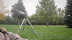 Melnor Deluxe Metal Pulsating Sprinkler Water Spray Equipment With Tripod Garden