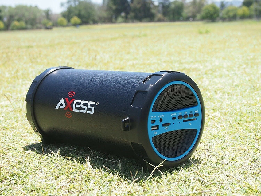 Rechargeable Bluetooth Speaker Portable Tablet Wireless Pc Bass Stereo Blue NEW