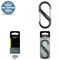 S-Biner Double-Gated Carabiner Strong Lightweight Water Bottle Zipper Key Ring