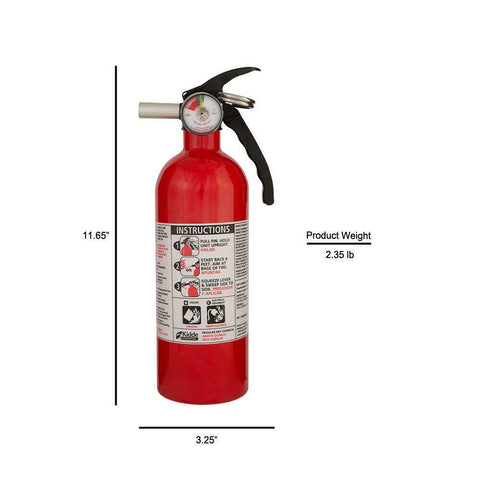 Dry Chemical Fire Extinguisher 5-B:C Emergency Home Car Auto Garage Fire Safety