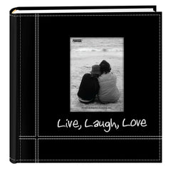 Leather Frame Photo Album Cover 200 Photos Pictures Storage Holder Books Memory