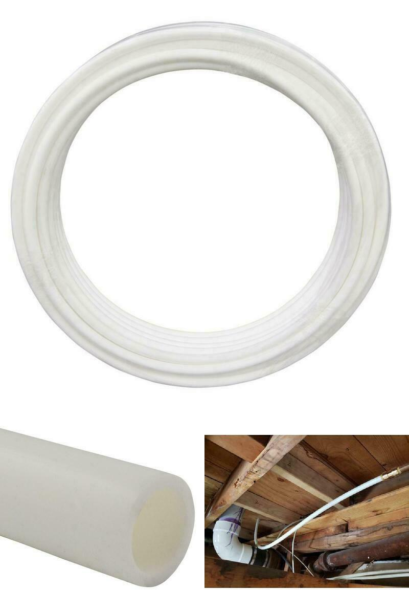 White PEX Pipe Durable 1/2in x 100ft Wet/Dry Plumbing Piping System Flexible NEW