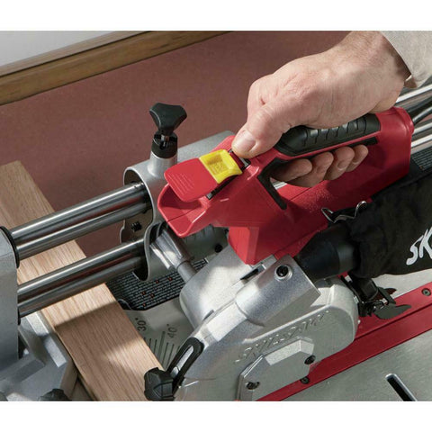 Corded Flooring Panel Saw Durable Portable 4-3/8 in Cross Miter Rip Cut Fence