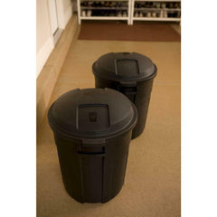 New 20 Gallon Black Round Trash Can Waste Bin Container Lid Roughneck Heavy Duty