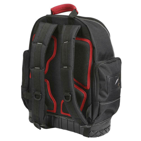 Husky Tool Backpack Bag Storage Organizer Waterproof Rubber Bottom Red 18 Inch