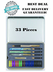 Calligraphy Letters Pen Set Staedtler Writing Art Script Tool Ink Best Gift USA