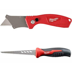 Milwaukee Folding Utility Knife Set Quick Blade 2 Pack and 6 in. Fixed Jab Saw