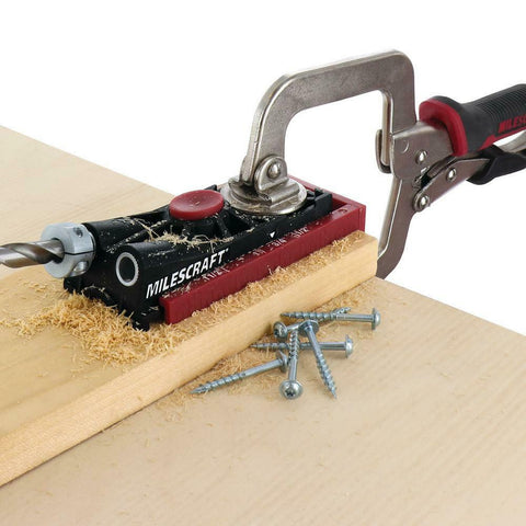 Complete Pocket Hole Jig Bit Kit Drill Bit Screws Repairs Woodworking w/. Case