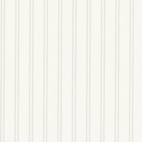 56 sq. ft. 1 Double Roll Beadboard White Textured Paintable Wallpaper Decor New
