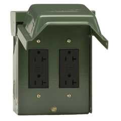 Weatherproof Backyard Outlet w/ GFCI Receptacles Electric Enclosure Lock Outdoor
