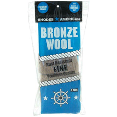 Bronze Wool Pads (3-Pack) Steel Resists Corrosion Rust Shedding Wire Scrubber