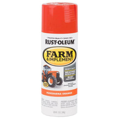 12 oz. Orange Spray Tractor Paint 6-Pack Farm Implement Gloss Mineral Spirits