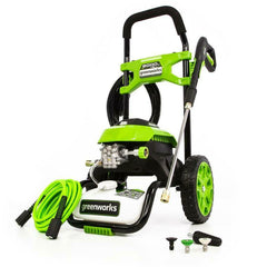 Greenworks Cold Water Electric Pressure Washer 2000psi 1.2gpm Hose Metal Wand
