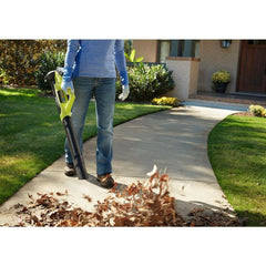 Cordless Leaf Blower with Battery and Charger Ryobi ONE+ 18-Volt Lawn Yard Sweep