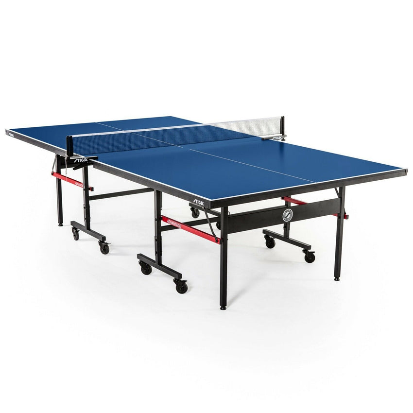 STIGA Advantage Indoor Table Tennis Table Ping Pong Blue Silkscreen Striping