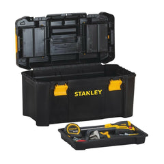 Stanley 19 inch Portable Tool Box Organizer Lid Tray Storage Small Parts Latch