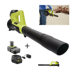 Cordless Leaf Blower Electric Hand Held Battery Powered 18 Volt Lithium Combo