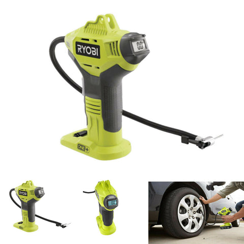 NEW Ryobi 18V Cordless Portable Air Compressor Tire Inflator Handheld Bike Pump